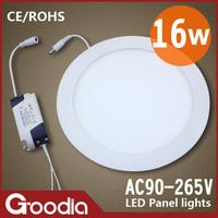 Free shipping Round 16W Panel lamp led AC90~265V Cool white/Warm white 60pcs 2835SMD CE & ROHS 2PCS/LOT 16W Led panel