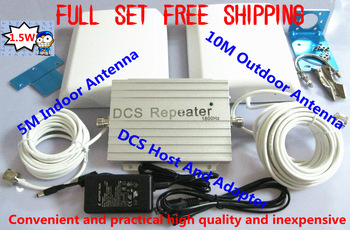 Free shipping full Set 1.5W DCS mobile phone signal amplifier repeater gsm cdma wcdma micro repeater free gifts with antennas