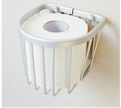 Space aluminum paper basket bathroom bumpered net blue toilet paper box paper basket(China (Mainland))