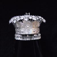 Miao silver unique dance costume hair accessory hat miao silver hat