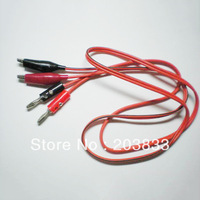 10pcs x 1m Alligator Clip Testing Lead Cable Crocodile Wire to Banana Plug Probe