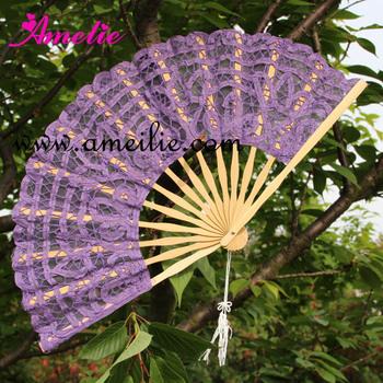 50pcs/lot DHL Or EMS Free Shipping 27cm  lace Fan