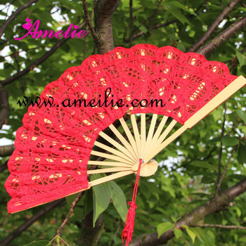 10 pcs/lot Free Shipping 27cm  lace wedding Fan