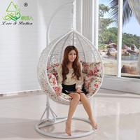 Rattan rattan furniture indoor and outdoor rocking chair bird nest hanging basket rattan swing white rustic rattan chair leisure