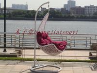 Rustic rattan hanging chair outdoor swing hanging basket bird nest rattan chair cradle rocking chair balcony casual