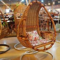Muzi rattan bird nest outdoor swing hanging blue hanging chair leisure chair deluxe edition big