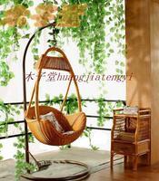 Rattan swing single outdoor swing indoor swing balcony chair cushion