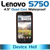 original lenovo s750 phone waterproof ip67 dual sim android quad core gorilla glass screen gps navigation in stock free shipping