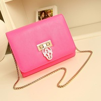 Women's handbag new arrival champagne gold chain bag small bags candy color mini bags bag  Free shipping