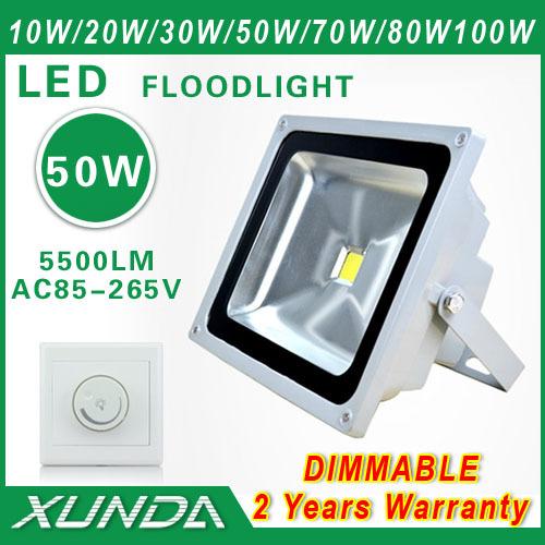 AC85-265V LED outdoor Spotlight 50w flood light advertising lamp waterproof Garden Lights Dimmable(China (Mainland))
