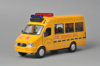 Alloy car model car toy bus iveco plain school bus