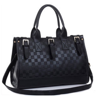 2013 women's handbag fashion casual vintage checkerboard palid shoulder bag messenger bag handbag women's bags