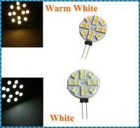 10pcs/lot G4 12 Warm White /White SMD LED 5050 Light Home Car RV Marine Boat Lamp Bulb DC-12V Wholesale