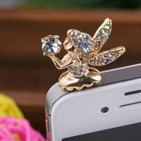 Free Shipping - wholesale plug min ordr is 15 usd Angel pixie dust plug of mobile phone mia 3 colours pls choose