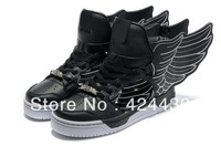 Free shipping Man & Women Jeremy Scott Wings 2.0 Shoes Black-white jeremy scott wings sneakers Black-white js wings shoes AD05
