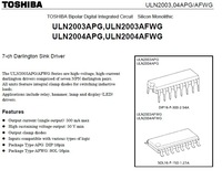 TOSHIBA DC brush less motor driver using high  ULN2003AFWG Wholesale Freeshipping