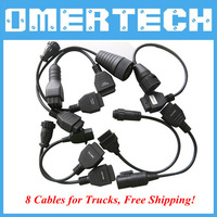 High Quality A Set Of Truck Adaptor Cable For TCS CDP PRO PLUS cables for cdp pro CHP Free Shipping