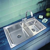 Ultralarge 304 stainless steel kitchen thickening one piece sink kitchen sinks
