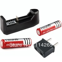 AAA AA 18650 14500 10440 Rechargeable Battery Universal Charger + 2 * 18650 3000mAh battery + power adapter Free Shipping