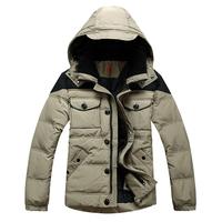 Free shiping Velvet thickening short design male down coat down coat Men men's clothing outerwear