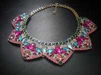 Freeshipping fashion Jewelry Beautiful Rhinestone Flower Choker Necklace