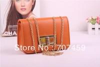 Free shipping!2013 women's handbag fashion plaid chain bag one shoulder bag cross-body small black women's bag
