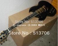 Custom Shop Black SG 3 Pickups Left Hand Electric Guitar High Quality Free Shipping