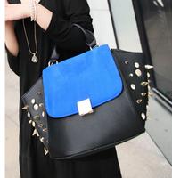 2013 summer fashion personality color block big ears bag smiley bag swing bag one shoulder women's handbag