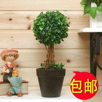 Artificial flower bonsai grass ball plants artificial flower fashion green rustic