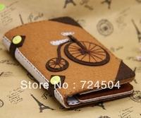 Freeshipping- Handmade fabric material diy kit bicycle wallet material