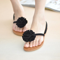 2013 sandals camellia double with cow muscle outsole flat sweet women's flip flops shoes slippers