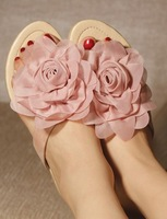 Plus size female sandals flip flops 2013 women's plus size shoes 40 - 42 flats mushroom shoes
