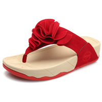 Summer female big flower flat flip flops shoes platform slip-resistant platform sandals