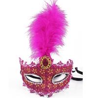 2013 Christmas masquerade masks women's powder flower feather mask