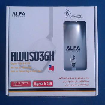 High power USB Adapter ALFA AWUS036H 1000mw wifi  5db antenna Realtek8187L Chipset Free shipping 2pcs/Lot