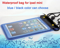 Hot sale 22*15cm Waterproof Pouch Sleeve Case Protection Skin Bag For Apple iPad mini Tablet With Hang rope