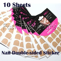 100 Sheets/lot Professional One-Off Double Side Nail Stickers For False Nail Tips Wholesales