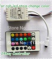 Free Shipping 20PCS/LOT DC5-24V RGB 24 Keys IR Remote Controller for SMD 3528 + 5050 RGB LED SMD Strip Light accessory