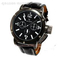 Free shipping Hot sale Classic black leather V6 Super Speed Quartz watch Men Fashion business wristwatch