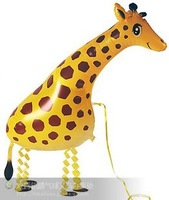 Free shipping 20pcs/lot,assortment design,walking pet balloon,walking balloon animals,Giraffe Balloon