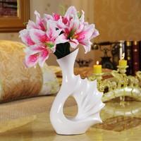 Brief modern decoration crafts home coffee table flower white thread decoration vase flower