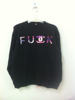 Sweatshirt autumn HARAJUKU hiphop fuck female thick fleece pullover o-neck