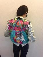 Skull steller's leopard outerwear coat PU