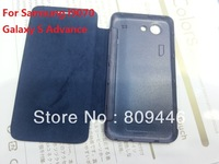 High quality! For Samsung i9070 Galaxy S Advance back cover pu  flip leather case battery housing case,retail package