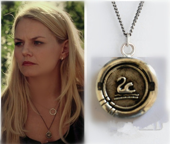 Once Upon a Time  Pendant Necklace Character Emma Swan Jewelry Alloy Body Chain,silver Pendant Best Hot Gift for women and lady