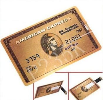 RM-120 Wholesale 4GB/8GB/16GB/32GB/64GB/128GB Credit Card Model  USB 2.0 Memory Flash Pen Drive Free shipping