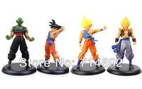 "9"" Dragon Ball GT PVC Goku & Piccolo & Gogeta High Quality DX Figure Vol 4pcs/set Anime Boy Toys Free shipping"