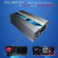 250W solar grid tie power inverter DC22v-60v 24v/36v/48v to AC 100V 110v 120v 220v 230v 240v SWITCH