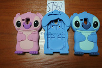 For Samsung Galaxy S Duos S7562 Retai 1pcs/lot 3D Cute Stitch Soft Silicone Case Back Cover Free shipping Via Post