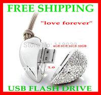 Free shipping Genuine real Capacity 4GB 8GB 16GB 32GB  64GB Heart Pen Driver Gift USB Flash Disk Jewelry USB flash drive
